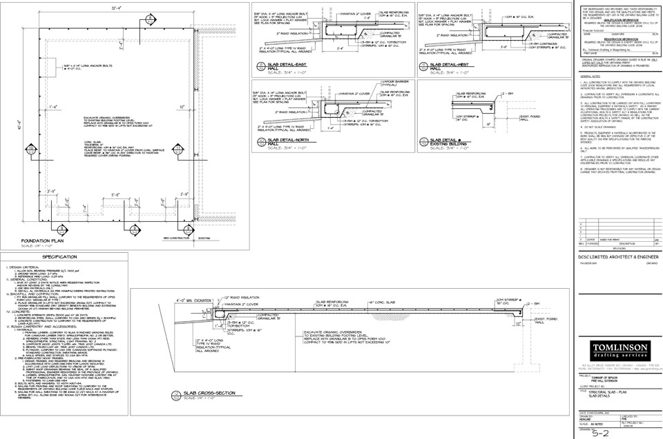 Tomlinson Drafting Work